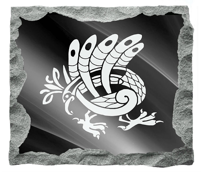 Celtic Art Memorial Image etched on a black granite background