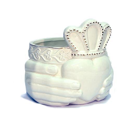 Claddagh Ceramic Vase