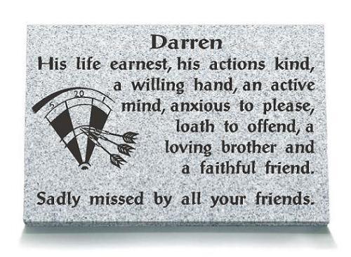 Darts Memorial