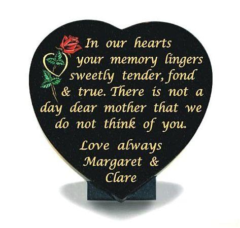 Mother Memorial Heart